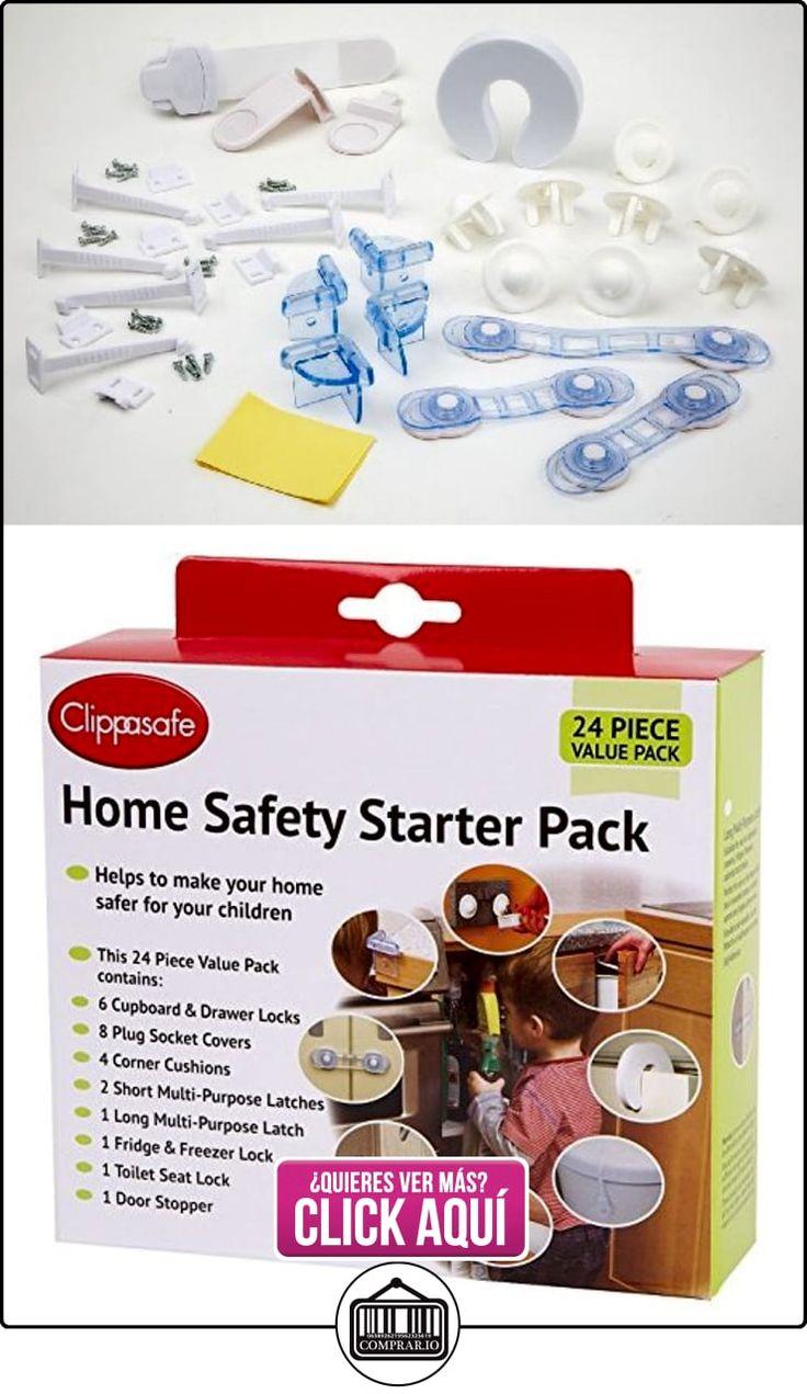 Clippasafe - Set básico de seguridad infantil para el hogar (24 piezas) [Importado de Inglaterra]  ✿ Seguridad para tu bebé - (Protege a tus hijos) ✿ ▬► Ver oferta: https://comprar.io/goto/B0088VWHK4