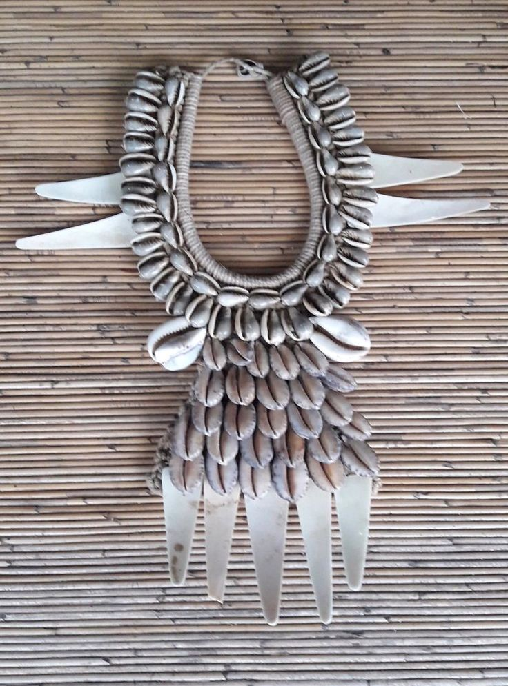 Shell Necklace Adornment Hand Woven Ethnic Jewelry Papua New Guinea Tribal Asmat #Tribalhealer