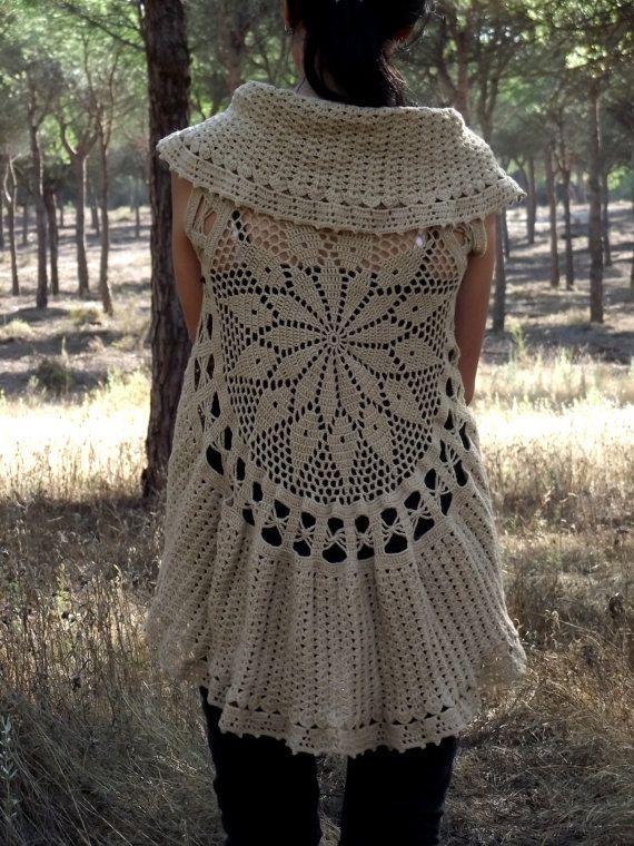 Free Crochet Patterns For Circular Vest : 566 mejores imagenes sobre CROCHET BLUSAS Y CHAQUETAS en ...