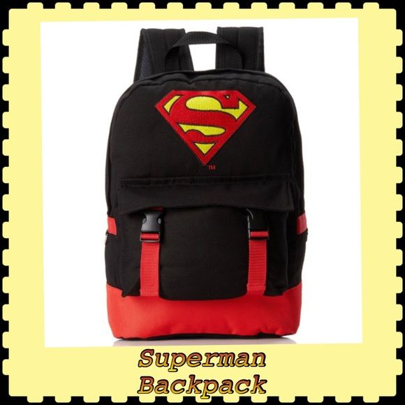 Superman Backpack with Distressed Screen Print. Superman Backpack with Distressed Screen Print. Picture may slightly difference due to lighting. DC Comic Bags Backpacks