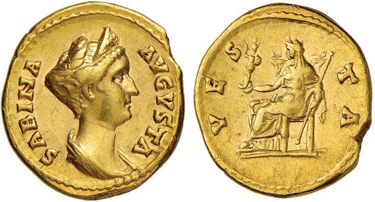 NumisBids: Nomisma Spa Auction 50, Lot 29 : ROMA IMPERO Sabina (moglie di Adriano) Aureo – Busto diademato a d....