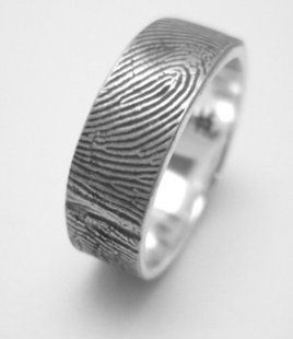 Great The man us wedding band with wife us fingerprints engraved on it