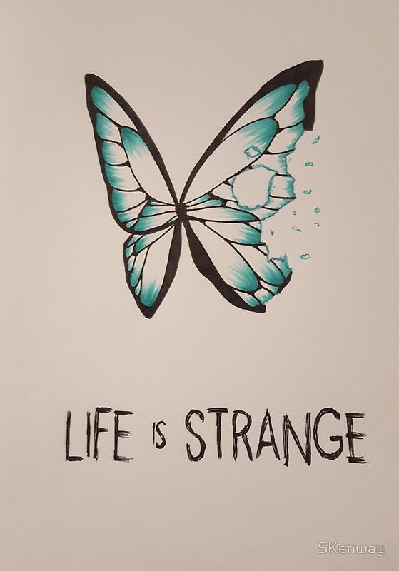 Life is Strange Butterfly sticker  http://www.redbubble.com/people/skenway/works/17171200-life-is-strange-butterfly?p=sticker&size=small&size=small