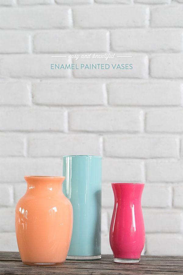 Enamel Painted Vases – Easy and Beautiful!