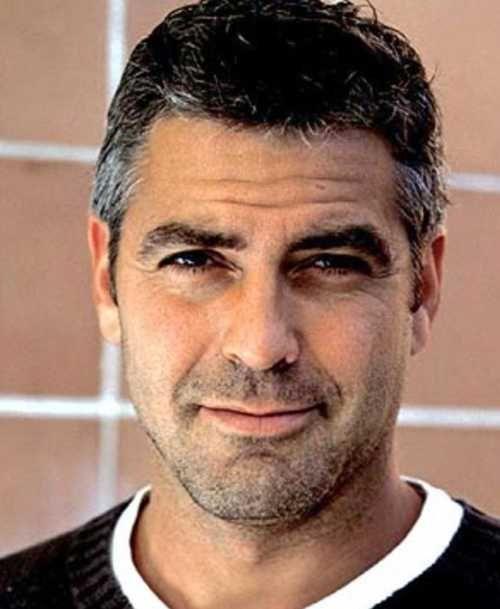 George Clooney Haarschnitt Unordentlicher Haarschnitt Bartformen Bart Rockabilly Frisur
