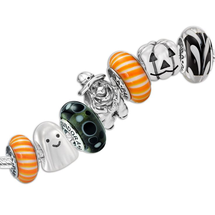 It's not too early to start thinking about Halloween...how cute is this? #pandora #halloween #bracelet #beads