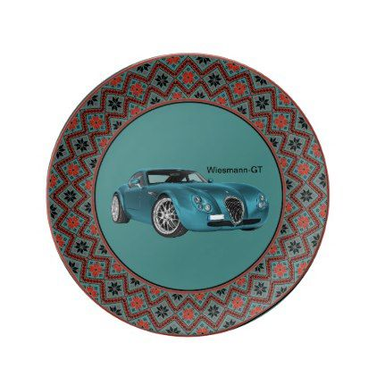 Old timer as Dekoteller Porcelain Plate - decor gifts diy home & living cyo giftidea