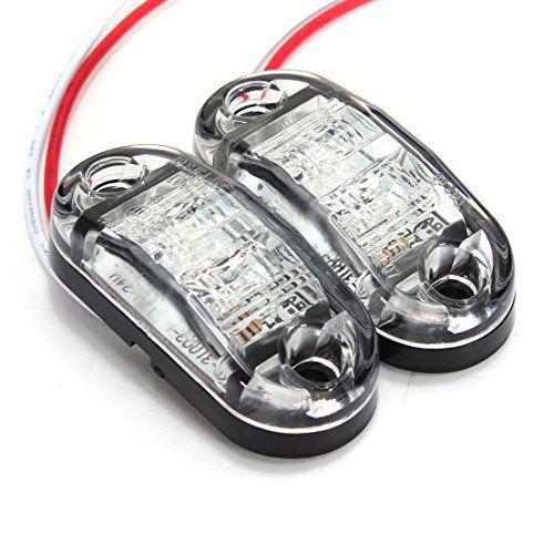 AUDEW 12V / 24V LED Voitures Feux Latéral Position Etanche Lampe E-Marked Remorque Camion 3 Couleurs Blanc: Spécifications: Matériau:…