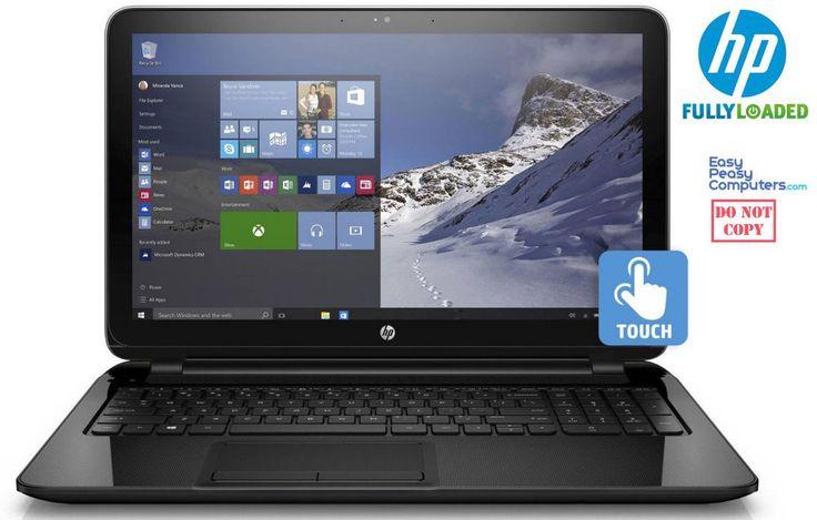 "NEW HP Laptop Touchscreen 15.6"" Windows 10 WiFi Webcam DVD Burner (FULLY LOADED) #HP #laptops #laptop"