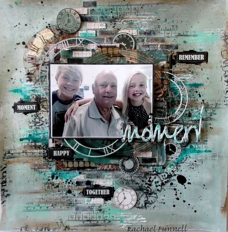 "The Scrapbook Store - August Sketch Challenge - Using Kaisercraft ""Time Machine"" #scrapbooking #kaisercraft #2 Crafty chipboard"