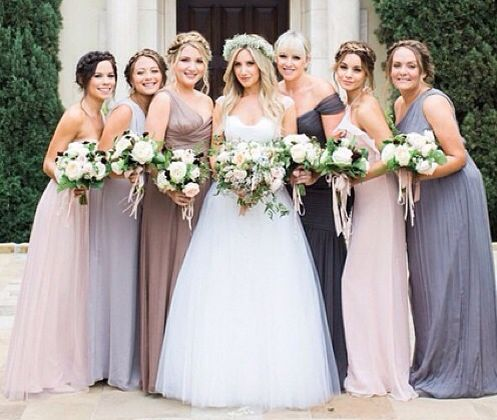 So beautiful and matching bridesmaids I just love it