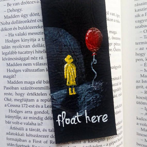 Check out this item in my Etsy shop https://www.etsy.com/listing/549010013/pennywise-the-clown-bookmark-stephen