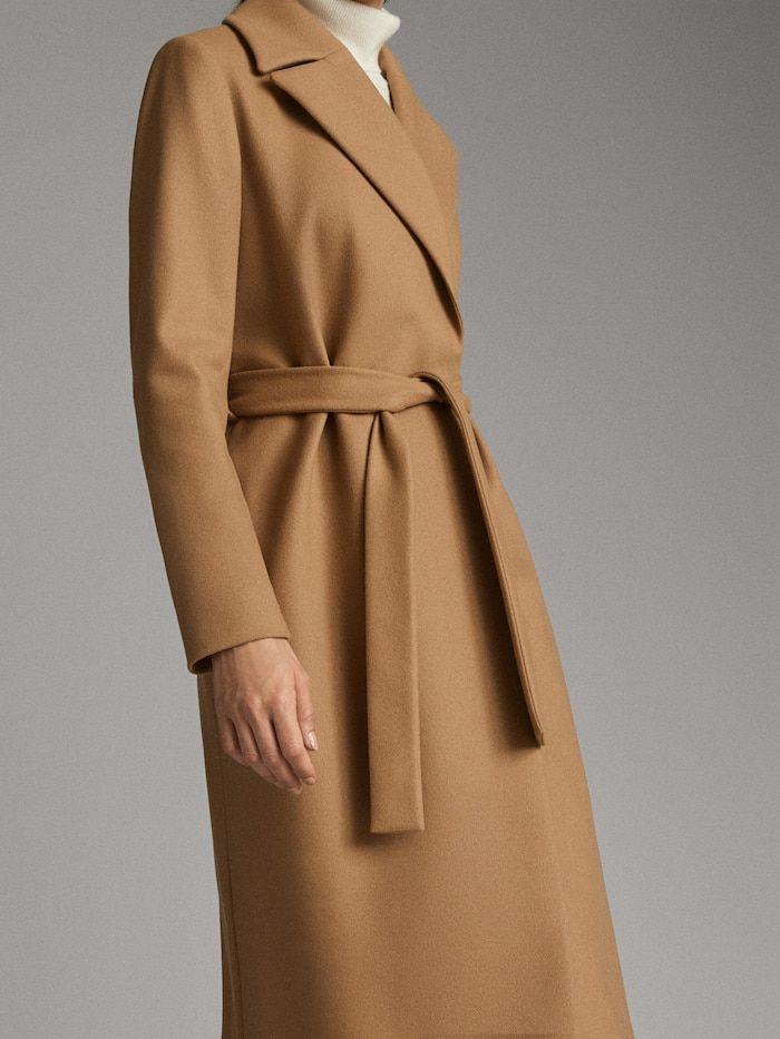 Wollmantel Mit Bindegurtel Damen Massimo Dutti Coats For Women Coat Gowns Dresses