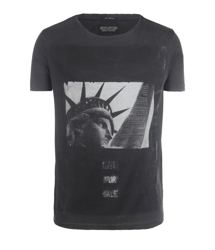 All Saints shirt promoting Not For Sale, the anti-human trafficking group.