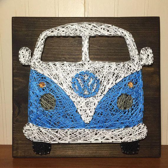 VW Bus String Art by StringsbySamantha