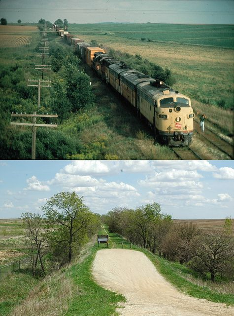 Milwaukee Rd Marion Iowa Sept 1979-before & after,2011