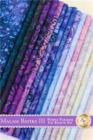 Malam Batiks III  17 Fat Eighth Set - Purple Paradise by Jinny Beyer for RJR Fabrics