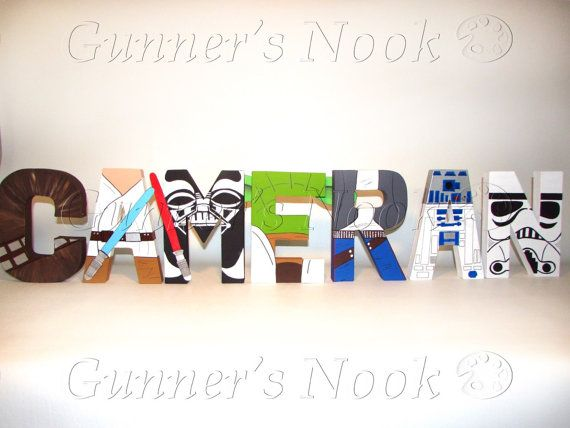 Star Wars Character Letter Art Price Per Letter by GunnersNook