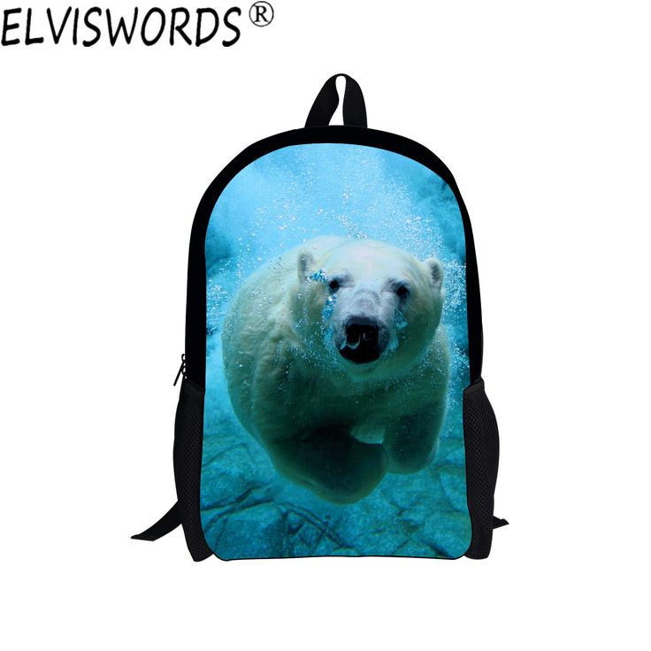 Aliexpress.com : Buy ELVISWORDS Girls Cute School Bags Hot Selling 3D Ocean Animals Painting Bookbag Teenagers Daily Backpack College Laptop Bag from Reliable school bags suppliers on Lingka Design Store