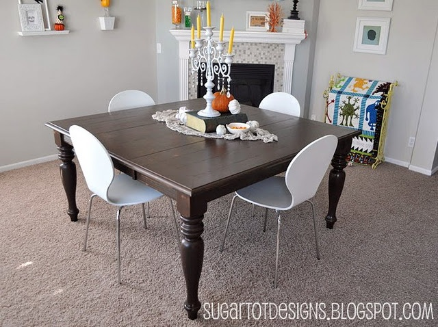 refurbished dining table