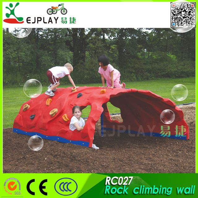 Source Kids outdoor playground plastic used rock climbing wall for sale on m.alibaba.com