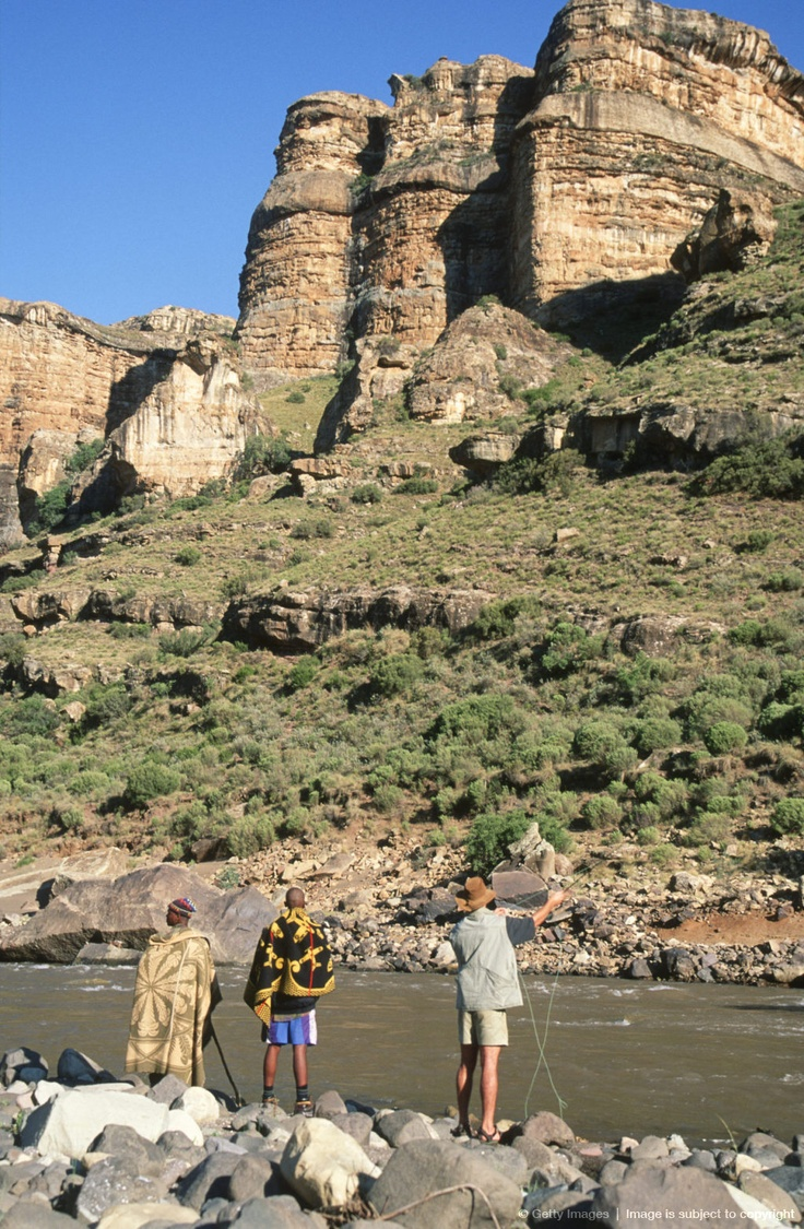 Fly Fishing in Mountain River. Lesotho BelAfrique - Your Personal Travel Planner www.belafrique.co.za