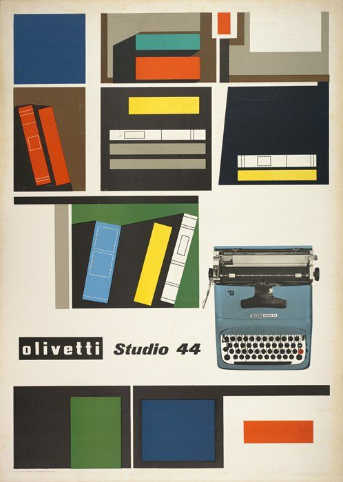 Ing. C. Olivetti & C., Giovanni Pintori, Poster, 1954
