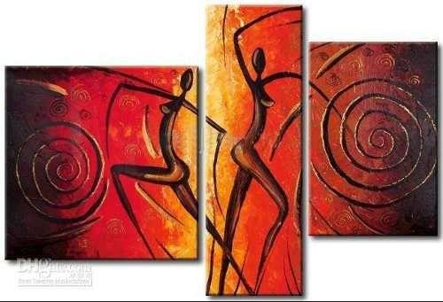 Cuadros Tripticos Modernos Abstractos - Pinturas Acrílicos en Arte ...