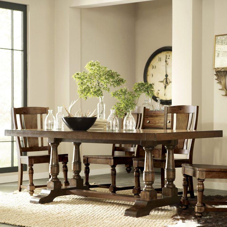 Riverside Newburgh Rectangle Trestle Dining Table - RVS1637
