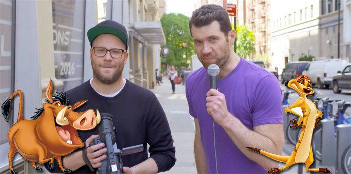 'The Lion King Casts Billy Eichner and Seth Rogen as Timon and Pumbaa #SuperHeroAnimateMovies #billy #casts #eichner #pumbaa