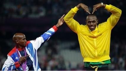 Olympians Mo Farrah and Usain Bolt