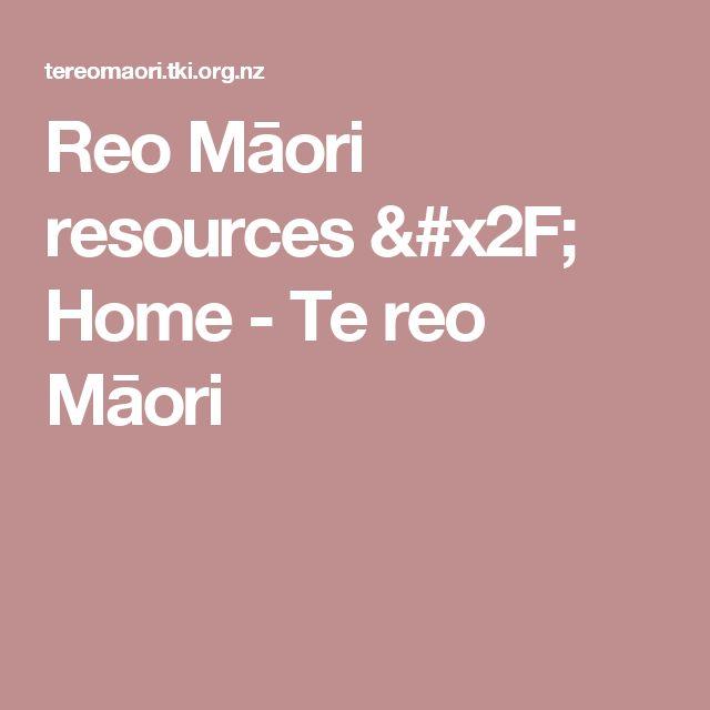 Reo Māori resources / Home - Te reo Māori