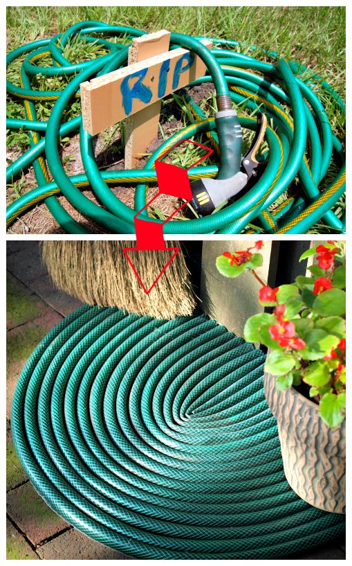 Refab Diaries Repurpose Welcome Back Your Leaky Garden Hose Catalog Spree Pin To Win