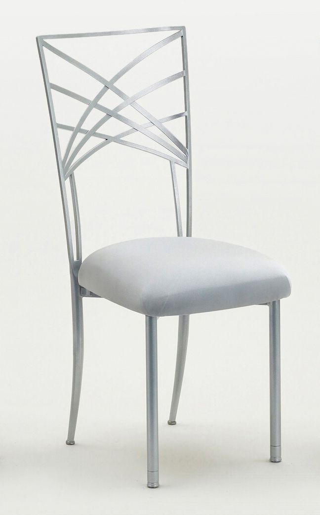 Silver Chameleon Chair With Silver Pad Having A Silver