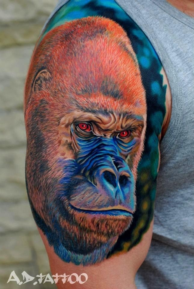 23 best gorilla tattoos images on pinterest gorilla tattoo cool tattoos and monkeys. Black Bedroom Furniture Sets. Home Design Ideas