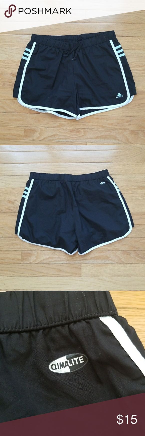 Adidas Climalite Workout Shorts Great quality and good condition Adidas Climalite workout Shorts!  Like new. The only wear is on the logo. Black layer inside!  Bundle for a cheaper price! 😊 adidas Shorts