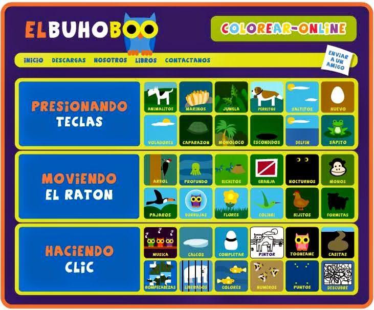 EL BUHOBOO: Juegos y libros educativos online GRATIS ~ Juegos gratis y Software Educativo