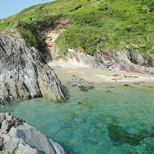 Donkey Beach in Cornwall