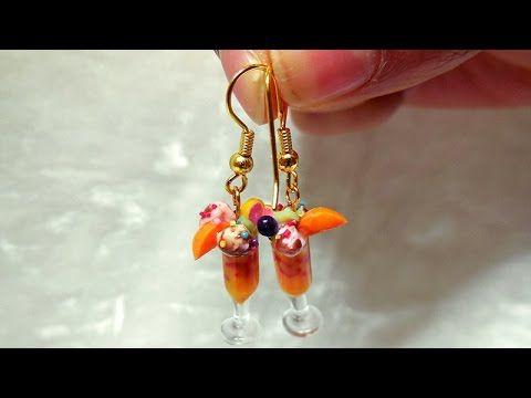 미니어쳐 파르페 귀걸이 만들기 Miniature Parfait Earring - YouTube