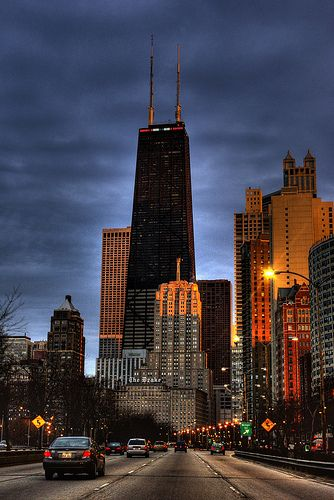 John Hancock Center | Chicago, IL. ... This is my neighborhood!  Love this City!