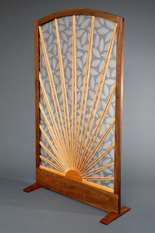 sun and leaf room divider screen seth roland