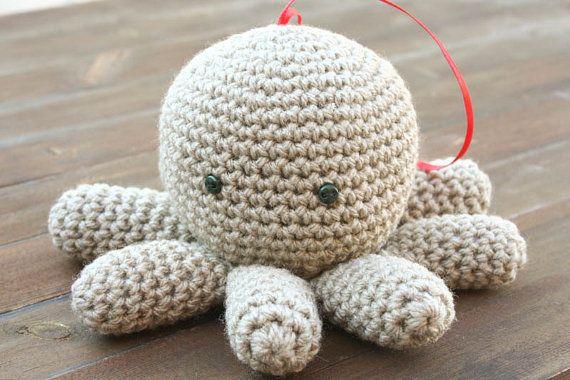 Crochet Mr. Tako Amigurumi filled with by aureliaslittleroom