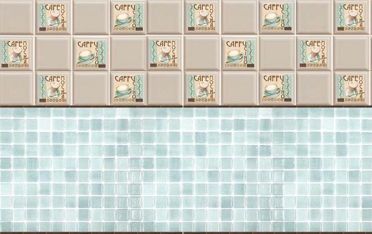 coffee tiles printies mini tile & flooring Pinterest