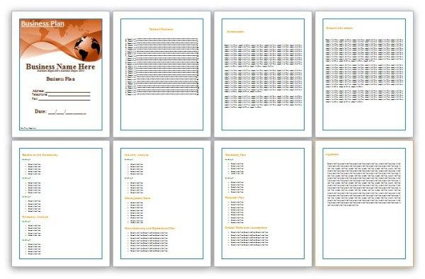 business plan template save word templates