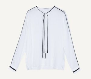 MAX & Co.のFluid blouse with bow collar