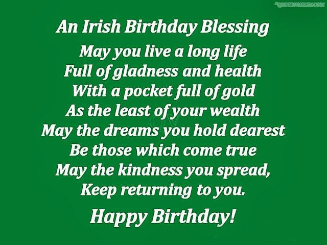Irish Birthday Blessing Give Irish jewelry as a birthday gift. http://www.handcraftedcollectibles.com/