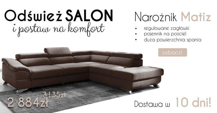 Super SALE %%%% Corner sofa Matiz is perfect for your Living room :)  Wielka promocja! Naro�nik Matiz jest idealny do Twojego salonu! #corner #sofa #naro�nik #mirjan24 #dom #home