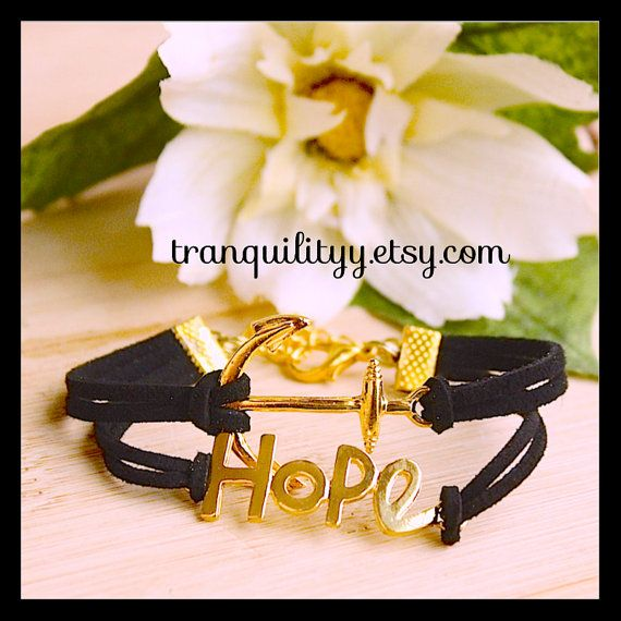 Anchor n Hope Sun Kiss Gold Tone Charm Adjustable by tranquilityy