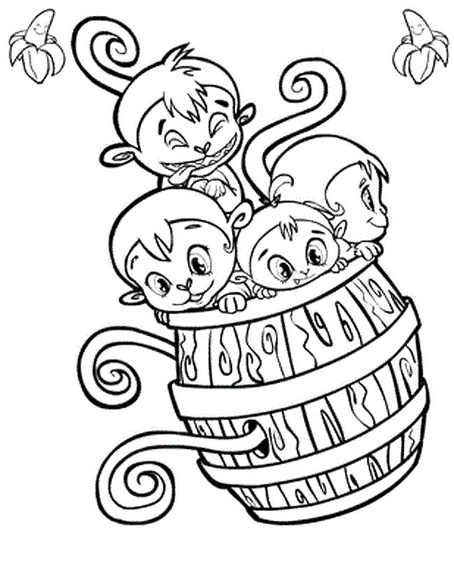 41 best monkeys images on pinterest kids net monkey and for Coloring pages of baby monkeys