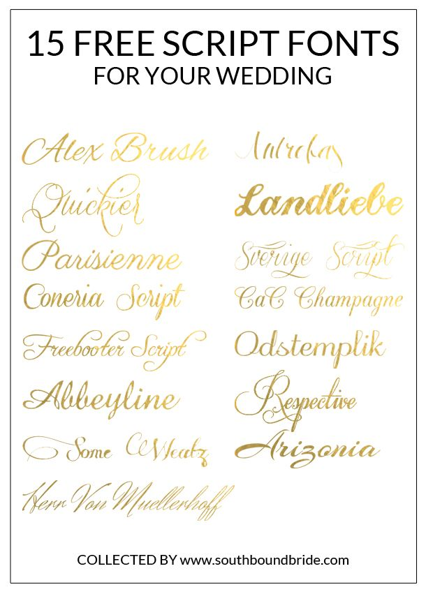 15 Free Script Fonts For Your Wedding | Party ideas | Wedding Fonts, Wedding calligraphy, Script ...
